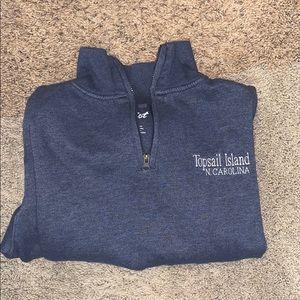 Navy quarter zip hoodie